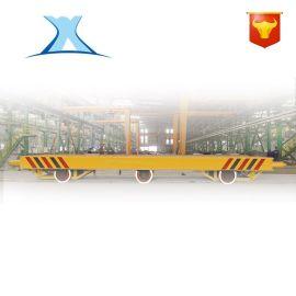 40吨轨道运输车定制 工厂轨道电动平板车20吨 模具摆渡遥控车