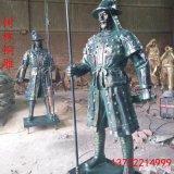 纯铜三 仪仗队 纯铜古代仪仗队铜雕塑 唐县铸铜厂