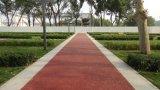 彩色透水地坪材料上海桓石彩色 透水地坪透水混凝土吸附地表水 促进水循环