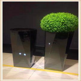 上海不锈钢花盆直销爆款工艺金属花盆不锈钢镀色花盆