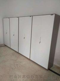 办公室储物铁柜玻璃门铁柜重庆厂家供应77