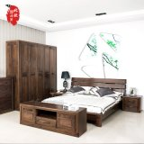拓马印象 北美黑胡桃木1.8米全实木床婚床实木家具