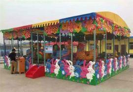 厂家直销 大型室内儿童玩具广场户外游乐园游乐设备专业厂家 新型4/6车喷球车