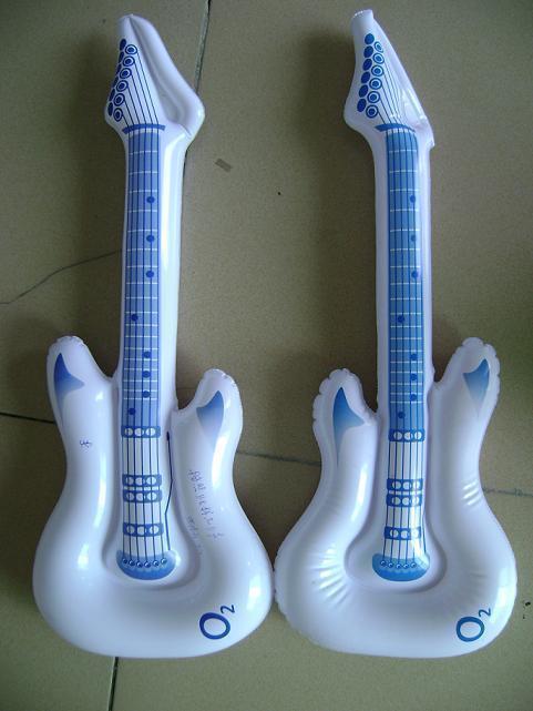 工厂定做充气玩具 充气吉他 pvc吉他