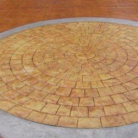 供应毕节市混凝土压花地坪|压模地坪|彩色透水地坪|水泥压印地坪|水泥压模地坪材料 模具销售施工一条龙