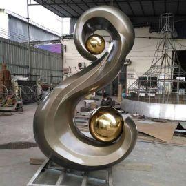 雕塑公司定制酒店家居不锈钢雕塑摆件欧式抽象电镀  金属工艺品