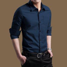 男士襯衫男長袖韓版修身加絨加厚保暖時尚襯衣男裝定做