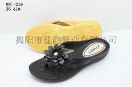 揭阳厂家供应女款时尚吹气拖鞋