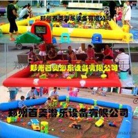 柳州充气沙地玩具批发/儿童充气沙池价格
