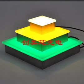 LED七彩地砖灯_广场地面LED地砖灯