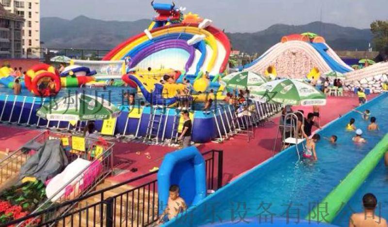 河南洛陽大型支架充氣水樂園全套安裝