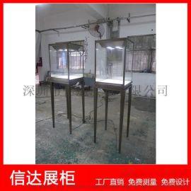 不锈钢立式珠宝首饰展陈列柜台精品玻璃柜台展示柜