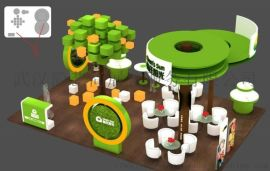 湖北会展搭建商 木结构展台设计制作工厂 展览会搭建