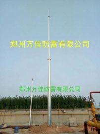 钢管杆独立避雷针,GH环形热镀锌避雷针