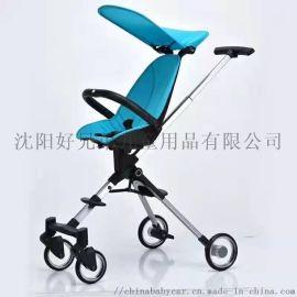 Qatta卡塔溜娃遛娃神器折疊超輕兒童雙向手推車
