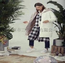 羽芮羽绒服女装宽松休闲大码品牌尾货冬款三荟服饰货源