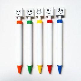 YIHAN笑脸笔可印刷二维码圆珠笔 彩色塑料广告笔油笔 可印LOGO笔