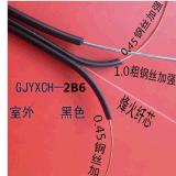 光電  室外三鋼絲一芯皮線光纜 加強鋼絲圓形電信級標準