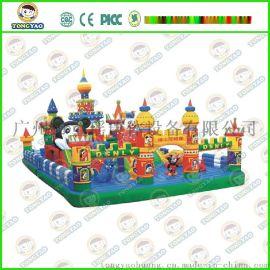 充气城堡儿童充气蹦床游乐玩具陆地充气闯关系列儿童充气大滑梯