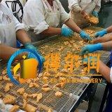 十月新品D-4鸡肉块裹粉机  滚筒鸡米花裹粉机设备