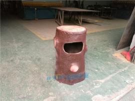 创意公园景区垃圾桶户外树脂仿树桩果壳箱玻璃钢垃圾箱