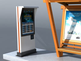 遊客中心戶外46寸/55寸防水防爆鋼化互動數位標牌