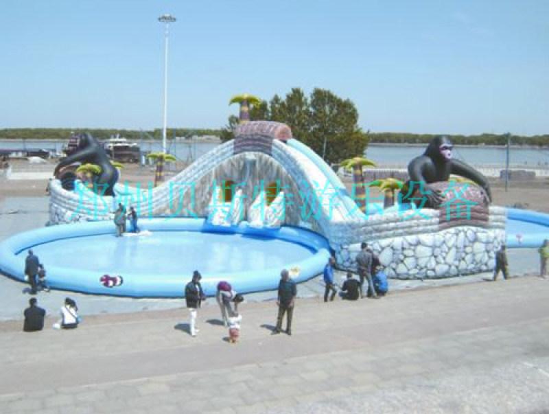河北大型水上樂園小鯨魚水滑梯定做水上遊樂設備