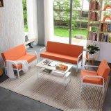北欧简约沙发 休闲别墅布艺坐垫沙发茶几组合时尚客厅铁艺沙发椅