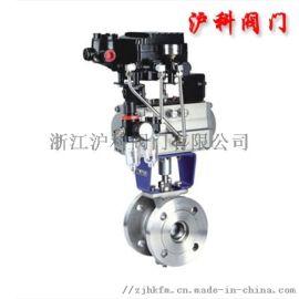 供应气动V型法兰球阀Q647F-16P厂家