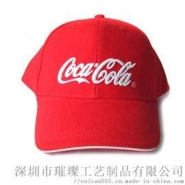 厂家定制刺绣印刷Logo户外广告帽儿童全棉鸭舌帽