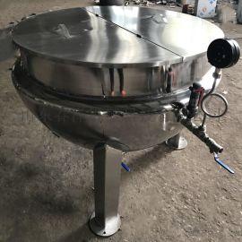 导热油夹层锅 可倾斜带搅拌夹层锅
