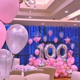 昆明花語花香,氣球百日宴,氣球生日宴,氣球派對