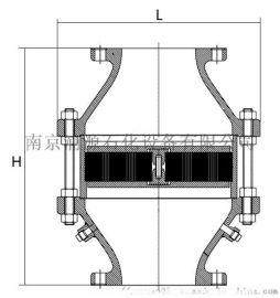低速易燃气体管道用阻火器