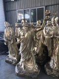 昌东供应铸铜十八罗汉厂家 十八罗汉铜佛像定做厂家