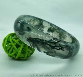 珠宝首饰水草玛瑙手镯七彩玉镯加丽专业厂家玛瑙手环