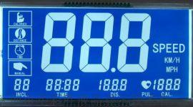 大屏跑步机液晶显示屏蓝底白字