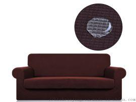 防水格纹坐垫式沙发套 弹力坐垫式沙发套