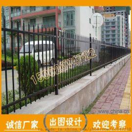 肇庆客运站停车场围栏/带横梁铁栏杆/锌钢护栏可定制