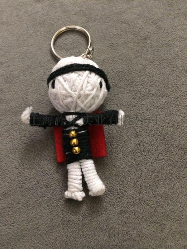 源頭工廠生產加工棉麻繩手工編織巫毒娃娃掛件