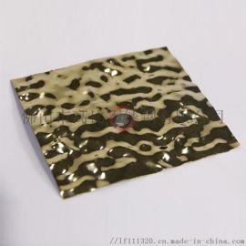鏡面小水波紋鈦金不鏽鋼板 天花牆面裝飾用不鏽鋼材料
