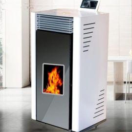 颗粒取暖炉 智能落料自动点火生物质取暖炉 恒美百特