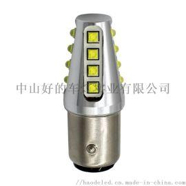 高亮80W汽车LED刹车灯转向灯1157