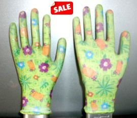 13针印花丁腈手套 园艺手套 耐油手套