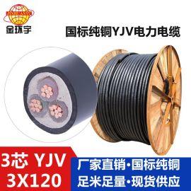 热卖线缆,环保电力电缆,YJV 3*120的报价 电线电缆厂家
