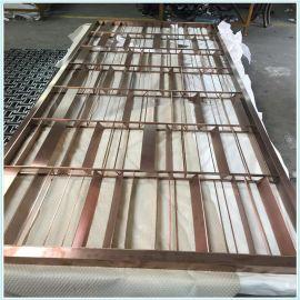 上海定制不锈钢屏风隔断镀铜屏风隔断酒店屏风