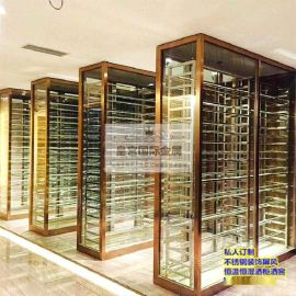 定制酒店酒櫃 可調節溫度 恆溫恆溼酒櫃 不鏽鋼酒櫃