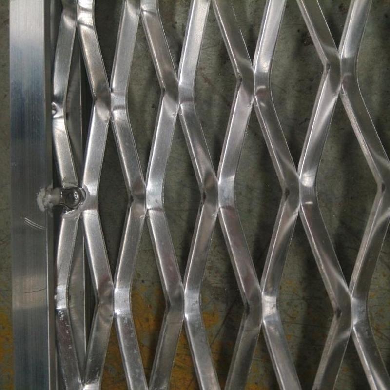 边框焊接铝板网 铝板格栅板 铝板拉伸网