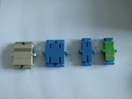 SC双联光纤适配器-蓝色、绿色光纤法兰
