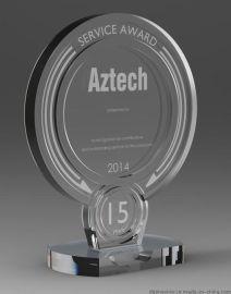 透明有机玻璃压克力奖杯年终员工奖杯奖牌