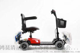 皓森电动尘推车, 医院候车室地下车库保洁驾驶式四轮拖地机